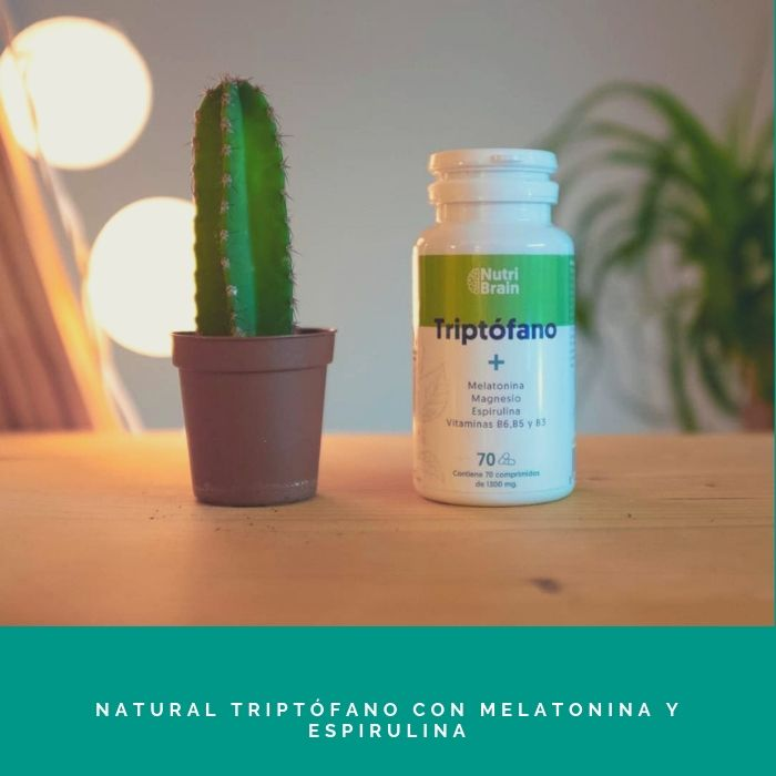 Natural-Triptófano-con-Melatonina-y-Espirulina Nº1 - El Mejor Producto Para Dormir