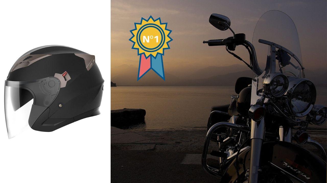 El mejor casco abierto de Moto seguro