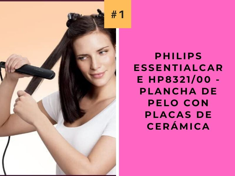 Philips EssentialCare HP832100 - Plancha de pelo con placas de cerámica