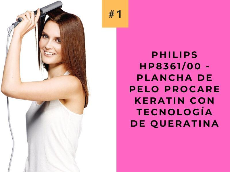 Philips HP836100 - Plancha de pelo ProCare Keratin con tecnología de queratina